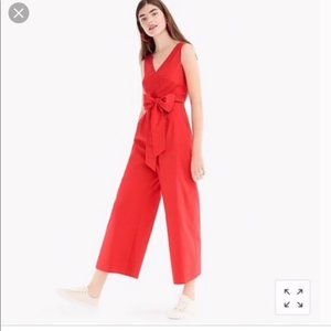 J. Crew | NWT Red Tie Wrap Jumpsuit Style K4930